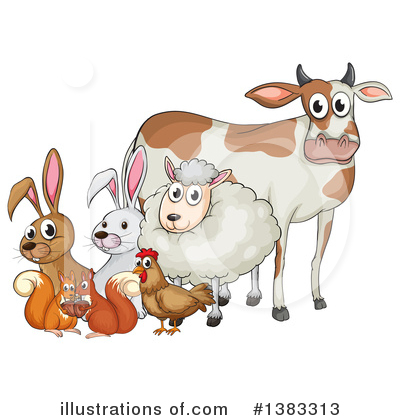 Farm Animal Clipart #1383313 by Graphics RF