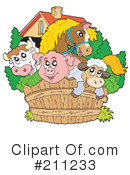 Royalty-Free (RF) farm animals Clipart Illustration #211233