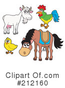 Royalty-Free (RF) Farm Animals Clipart Illustration #212160