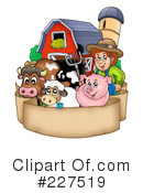 Royalty-Free (RF) Farm Animals Clipart Illustration #227519