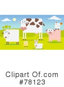 Royalty-Free (RF) Farm Animals Clipart Illustration #78123