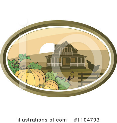 Royalty-Free (RF) Farm Clipart Illustration by Lal Perera - Stock Sample #1104793