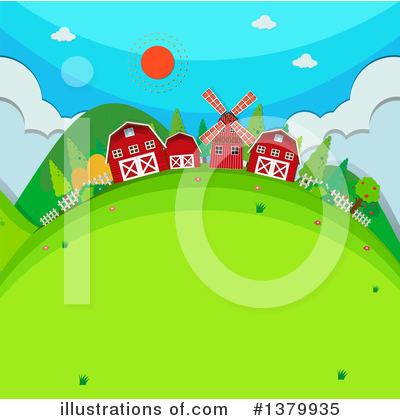 Windmill Clipart #1379935 by Graphics RF