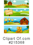 Royalty-Free (RF) Farm Clipart Illustration #215368