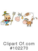 Royalty-Free (RF) Farmer Clipart Illustration #102270