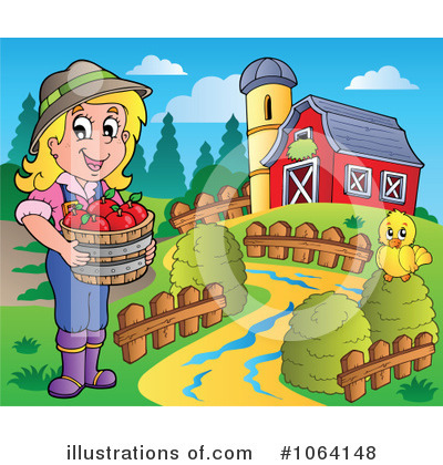 Royalty-Free (RF) Farmer Clipart Illustration by visekart - Stock Sample #1064148