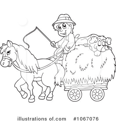Royalty-Free (RF) Farmer Clipart Illustration by visekart - Stock