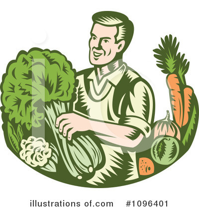 Farmer Clipart #1096401 by patrimonio