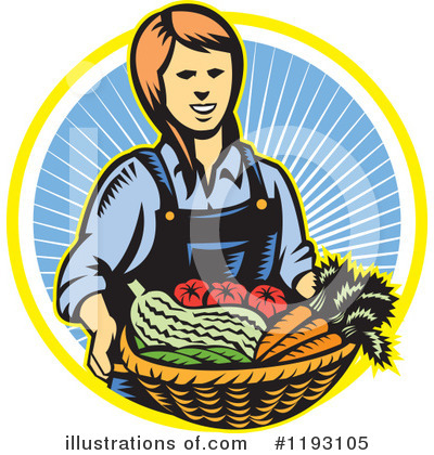 Royalty-Free (RF) Farmer Clipart Illustration by patrimonio - Stock Sample #1193105