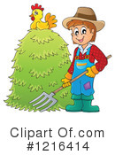 Royalty-Free (RF) Farmer Clipart Illustration #1216414