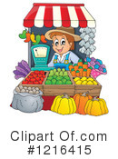 Royalty-Free (RF) Farmer Clipart Illustration #1216415