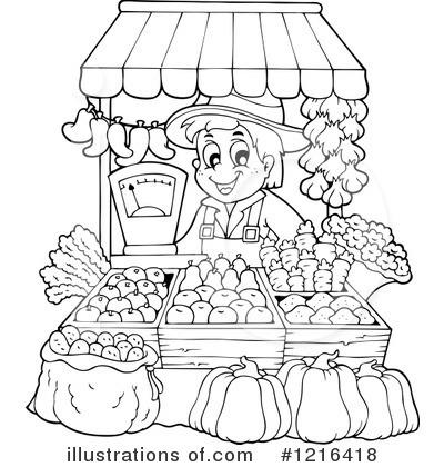 Farmer Clipart 1216418 Illustration By Visekart