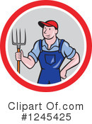 Farmer Clipart #1245425 by patrimonio