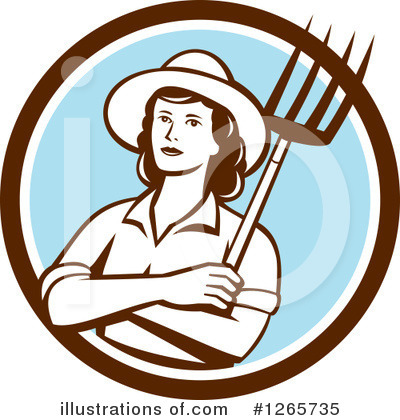 Farmer Clipart #1265735 by patrimonio