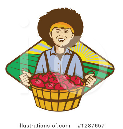 Royalty-Free (RF) Farmer Clipart Illustration by patrimonio - Stock Sample #1287657