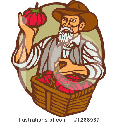 Farmer Clipart #1288987 by patrimonio