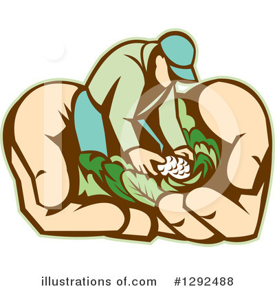 Royalty-Free (RF) Farmer Clipart Illustration by patrimonio - Stock Sample #1292488