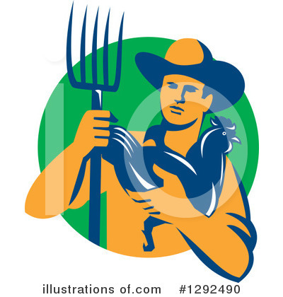 Farmer Clipart #1292490 by patrimonio