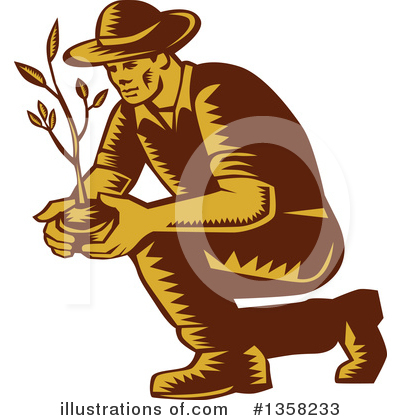 Royalty-Free (RF) Farmer Clipart Illustration by patrimonio - Stock Sample #1358233