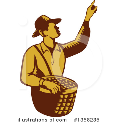 Farmer Clipart #1358235 by patrimonio