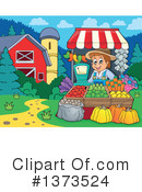 Royalty-Free (RF) Farmer Clipart Illustration #1373524