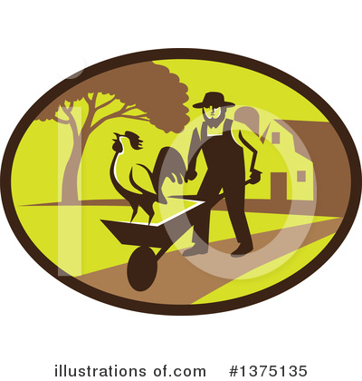 Farmer Clipart #1375135 by patrimonio
