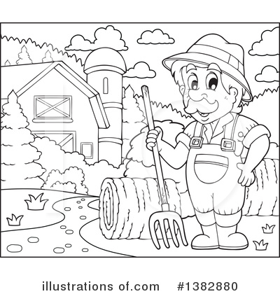 Farmer Clipart #1382880 by visekart