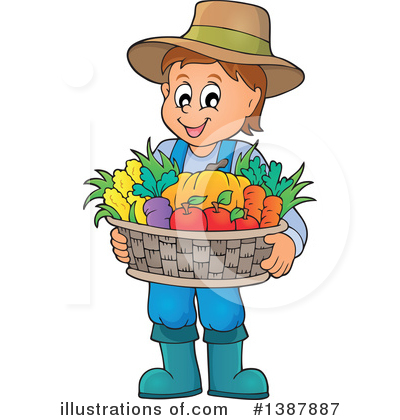 Royalty-Free (RF) Farmer Clipart Illustration by visekart - Stock Sample #1387887