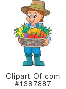 Royalty-Free (RF) Farmer Clipart Illustration #1387887