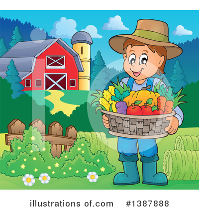 Farmer Clipart #1387888 by visekart