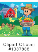 Royalty-Free (RF) Farmer Clipart Illustration #1387888