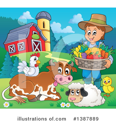 Farmer Clipart #1387889 by visekart