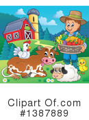 Royalty-Free (RF) Farmer Clipart Illustration #1387889