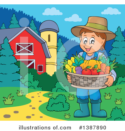 Farmer Clipart #1387890 by visekart