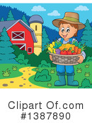 Royalty-Free (RF) Farmer Clipart Illustration #1387890
