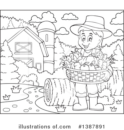 Farmer Clipart #1387891 by visekart