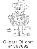 Royalty-Free (RF) Farmer Clipart Illustration #1387892