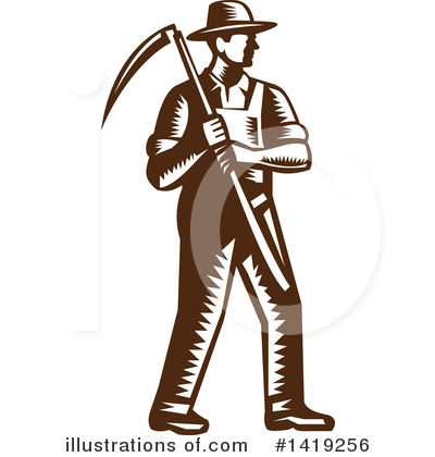 Farmer Clipart #1419256 by patrimonio