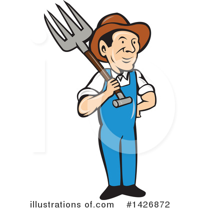 Farmer Clipart #1426872 by patrimonio