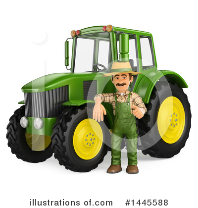 Tractor Clipart #1445588 by Texelart