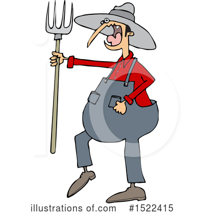 Royalty-Free (RF) Farmer Clipart Illustration by djart - Stock Sample #1522415
