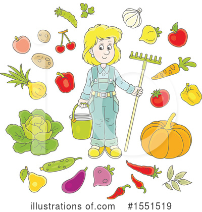 Royalty-Free (RF) Farmer Clipart Illustration by Alex Bannykh - Stock Sample #1551519