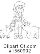 Farmer Clipart #1560902 by Alex Bannykh