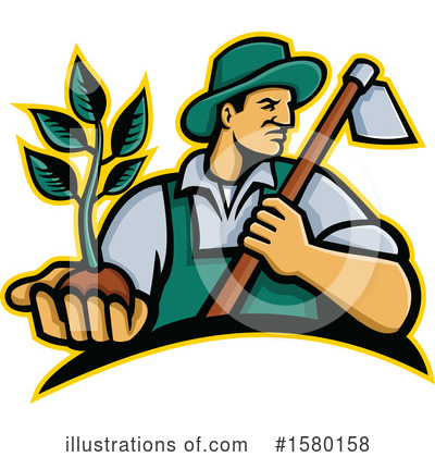 Royalty-Free (RF) Farmer Clipart Illustration by patrimonio - Stock Sample #1580158