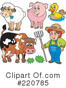 Royalty-Free (RF) Farmer Clipart Illustration #220785