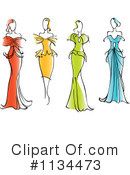 Royalty-Free (RF) Fashion Clipart Illustration #1134473