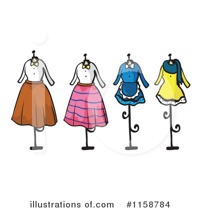 Fashion Clipart #1158784 - Illustration by colematt