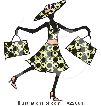 Shopping Clipart #22084 by Steve Klinkel