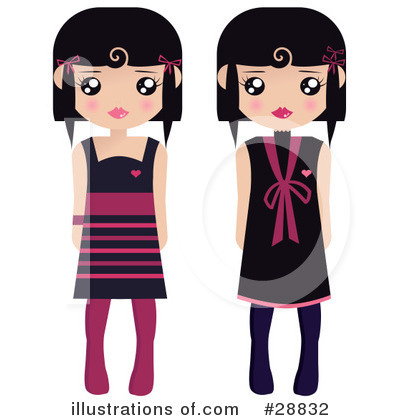 Dress Clipart #28832 by Melisende Vector
