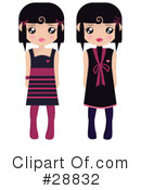 Royalty-Free (RF) Fashion Clipart Illustration #28832